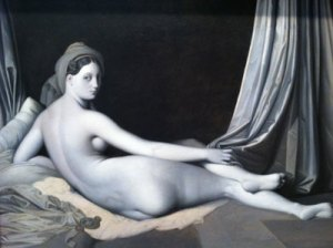 """Grande Odalisque in Grisaille"" by Jean-Auguste-Dominique Ingres"