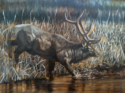 """""""September Strut"""" in grisaille by Joe Kronenberg"""